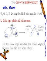 tiết 64. Ozon và hidropeoxit
