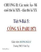 Tiết 9: Công xã Pari 1871