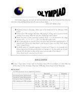 Một số đề và bài giải Toán OLYMPIAD bậc Tiểu học