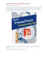 Hướng dẫn chi tiết Thiết kế bài trình chiếu tương tác bằng PowerPoint