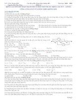 Trắc nghiệm Dòng điện không đổi - Phần 1