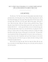 NÊU VÀ PHÂN TÍCH ẢNH HƯỞNG CỦA SỰ PHÁT TRIỂN DÂN SỐ ĐẾN SỰ PHÁT KINH TẾ XÃ HỘI Ở VIỆT NAM