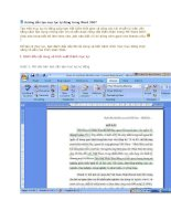 cách tạo mục lục tự đông trong word 2007