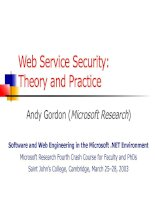 Web Service Security