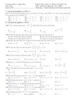 Đề-Đáp án Chương III ĐS 8 (Uni)