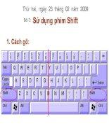 Sử dụng phím Shift