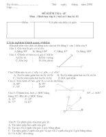 đề kiểm tra 45'' môn hình học lớp 6