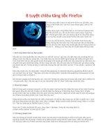 8 tuyệt chiêu tăng tốc Firefox