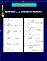 Rút gọn biểu thức chứa căn thức bậc hai