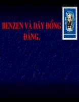 giáo án điện tử benzen và đồng đẳng