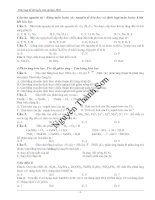 Phân loại đề thi đại học 2008 theo chuyên đề
