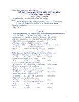 Chọn học sinh giỏi Anh 8 Test 4