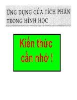 BÀI TẬP ỨNG DỤNG CỦA TÍCH PHÂN TRONG HH