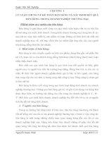 MỘT SỐ Ý KIẾN ĐỀ XUẤT NHẰM HOÀN THIỆN CÔNG TÁC KẾ TOÁN BÁN HÀNG VÀ XÁC ĐỊNH KẾT QUẢ BÁN HÀNG26 TẠI CÔNG TY TNHH THƯƠNG MẠI VÀ DỊCH VỤ SÁNG TẠO