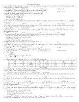Bài tập tổng hợp số 2 ôn thi đại học