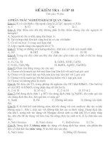 Đề kiểm tra 45 phút - Lớp 10 phần Halogen - Hà Nội