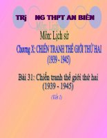 Chien tranh TG II (Tiet 1) - 11NC
