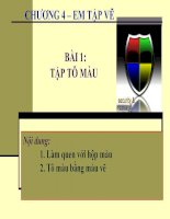 Chương 4. Bài 1. Tập tô màu