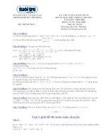 Đề thi, đáp án Toán tuyển sinh lớp 10 chuyên TPHCM 18-6-08