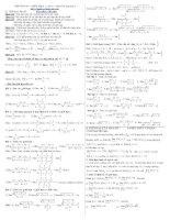 Giới hạn dãy số + hàm số ( tong hop)