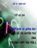 tiết 63. Oxi