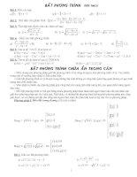 Chuyên đề BPT vô tỉ trong các đề thi đại học