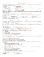 Trắc Nghiệm Lý Thuyết Chương I (NC)