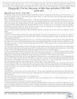 Tập hợp văn hiện thực và lãng mạn 1930 - 1945 phần thơ