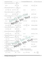 55 câu trắc nghiệm về hàm số lượng giác