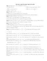 bài tập phương trình tiếp tuyến