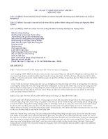 Đề thi và đáp án TN Ngữ văn THPT năm 2008