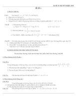 Bộ đề on thi tot nghiep toán 2009