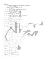 bài kiểm tra viết lại câu