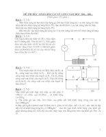 Đề thi HSG Vật lý 9 (.5Y)