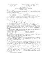 Đề thi vào lớp 10 chuyên Lam Sơn Thanh Hóa NH 07-08