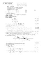 Đáp án bài kiểm tra 1 tiết học kì II ( lý 9)