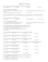 Đề cương ôn tập kiểm tra 1 tiết - Sinh 9