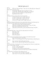 Đề thi trắc nghiệm môn lịch sử 12-1