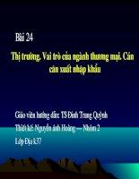 Dia ly 10 - Bai thi truong