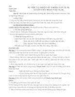 GIÁO ÁN DẠY THÊM NGỮ VĂN 6: SỰ VIỆC, NHÂN VẬT TRONG VĂN TỰ SỰ