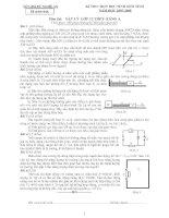 Đề thi HSG Lý 12 (Có đáp án)