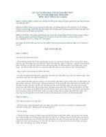 KỲ THI TUYỂN SINH LỚP 10 CHUYÊN THPT TẠI TP.HCM NĂM HỌC 2008-2009 (môn chuyên)