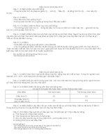 Đề kiểm tra lớp 9 (Di truyền học Mendel 2)