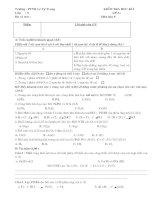 kiểm tra hóa 8 - đề A và đề B