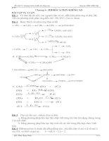 Tổng hợp BT tự luận hidrocacbon khong no