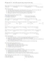 Luyện thi DH - Phần Sóng ánh sáng, lượng tử ánh sáng