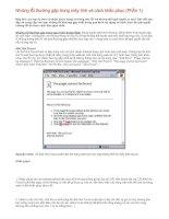 Những lỗi thường gặp trong máy tính & cách khắc phục (P1)