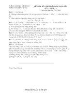 Đề thi HSG toán 9 có đáp án