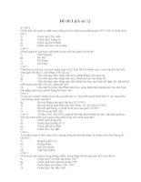 Đề thi trắc nghiệm môn lịch sử 12-4