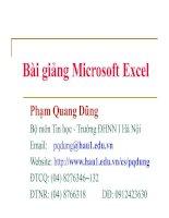Bài giảng Excel (.ppt)